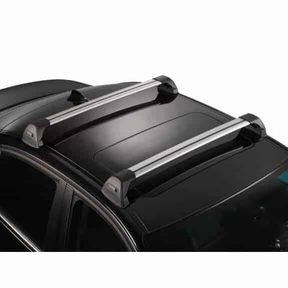 Whispbar Dakdragers Zilver Toyota Corolla  5dr Estate met Glad dak bouwjaar 2002-2007 Complete set dakdragers
