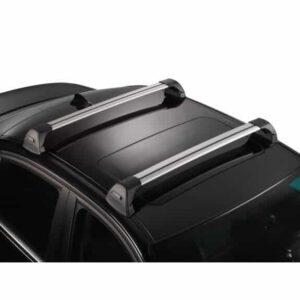 Whispbar Dakdragers Zilver Audi A3/S3/RS3 Sportback 5dr Hatch met Glad dak bouwjaar 2004-2012 Complete set dakdragers