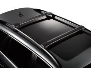 Whispbar Dakdragers Zwart Volvo XC90 5dr SUV met Dakrails bouwjaar 2003-2012 Complete set dakdragers