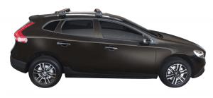 Whispbar Dakdragers Zwart Volvo V40 CC 5dr Hatch met Geintegreerde dakrails bouwjaar 2016-e.v. Complete set dakdragers