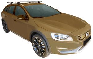 Whispbar Dakdragers Zwart Volvo V60 CC 5dr Estate met Geintegreerde dakrails bouwjaar 2015-e.v. Complete set dakdragers