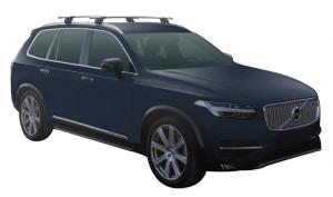 Whispbar Dakdragers Zwart Volvo XC90 5dr SUV met Geintegreerde dakrails bouwjaar 2015-e.v. Complete set dakdragers