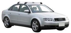 Whispbar Dakdragers Zilver Audi A4/S4/RS4 Limousine 4dr Sedan met Glad Dak bouwjaar 2001-2008 Complete set dakdragers