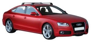 Whispbar Dakdragers Zilver Audi A5/S5/RS5 Sportback 5dr Coupe met Glad Dak bouwjaar 2009-2016 Complete set dakdragers