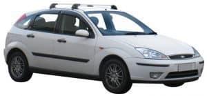 Whispbar Dakdragers Zwart Ford Focus 5dr Hatch met Glad Dak bouwjaar 1998-2003 Complete set dakdragers