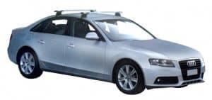Whispbar Dakdragers Zilver Audi A4/S4/RS4 Limousine 4dr Sedan met Glad Dak bouwjaar 2008-2015 Complete set dakdragers