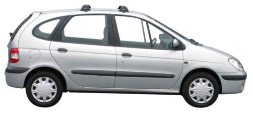 Whispbar Dakdragers Zilver Renault Scenic 5dr MPV met Glad Dak bouwjaar 1996-2003 Complete set dakdragers
