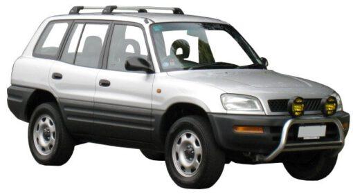 Whispbar Dakdragers Zilver Toyota Rav 4 5dr SUV met Vaste Bevestigingspunten bouwjaar 1994-2000 Complete set dakdragers