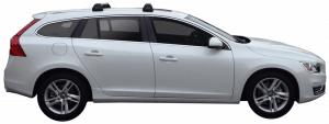 Whispbar Dakdragers Zwart Volvo V60 5dr Estate met Geintegreerde dakrails bouwjaar 2010-e.v. Complete set dakdragers