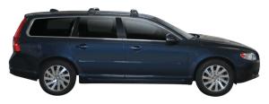 Whispbar Dakdragers Zwart Volvo V70 5dr Estate met Glad Dak bouwjaar 2007-e.v. Complete set dakdragers