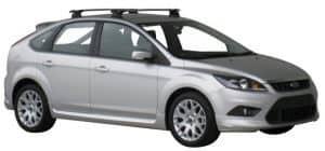 Whispbar Dakdragers Zwart Ford Focus 5dr Hatch met Vaste Bevestigingspunten bouwjaar 2008-2011 Complete set dakdragers
