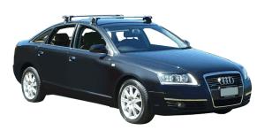 Whispbar Dakdragers Zilver Audi A6/S6/RS6 Limousine 4dr Sedan met Glad Dak bouwjaar 2004-2010 Complete set dakdragers