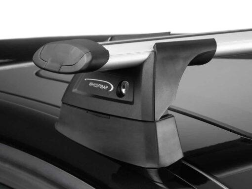 Whispbar Dakdragers Zilver Volkswagen Golf Mk4 5dr Hatch met Vaste Bevestigingspunten bouwjaar 1997-2003 Complete set dakdragers