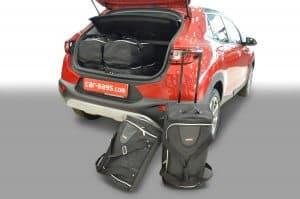 Kia Stonic (YB) 2017-heden (zonder verstelbare laadvloer) Car-Bags reistassenset