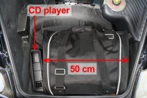 Porsche 911 (997) 2004-2012 Car-Bags reistassenset (2WD + 4WD met CD wisselaar in de bagageruimte)
