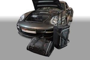 Porsche 911 (997) 2004-2012 Car-Bags reistassenset (2WD zonder CD wisselaar of met CD-wisselaar bovenop het schutbord)