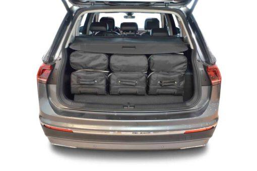 Volkswagen Tiguan II Allspace 2017-heden (7-zitter met 3e zitrij neergeklapt) Car-Bags reistassenset